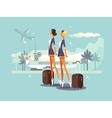 Beautiful flight attendants vector image vector image