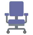 Blue office chair vector image