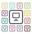 board flat icons set vector image vector image