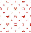 broadcast icons pattern seamless white background vector image vector image