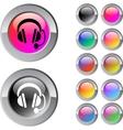Call center multicolor round button vector image vector image
