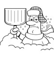 Cartoon man buried in snow vector image vector image