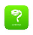 centimeter icon green vector image