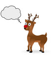 Christmas deer standing on a white background vector image vector image
