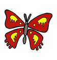 comic cartoon butterfly vector image vector image
