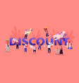 discount and sale concept happy people shopping vector image vector image