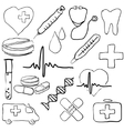 doodle medical images vector image vector image