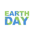 Earth Day emblem Logo for celebration of Earth vector image vector image