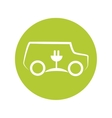 eco car symbol isolated icon vector image vector image