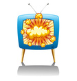 Explode and TV vector image vector image