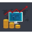 Financial market and investments vector image vector image