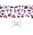 flat style sweets icons background with vector image vector image