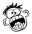 funny face cartoon vector image vector image