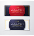 gold gift voucher with diamond premium pattern vector image vector image