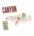 grand canyon tour packages text background word vector image vector image