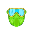 Green paintball mask icon cartoon style vector image vector image