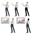 guy businessman presenting vector image