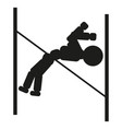 gymnast jumping over an obstacle sign vector image