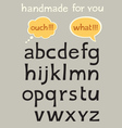 Handmade alphabet vector image vector image