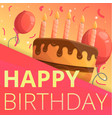 happy birthday concept background cartoon style vector image