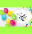 happy easter sale bannerbackground with beautiful vector image