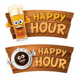 happy hour design template vector image