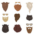 Hipster fashion man beards and eyeglasses vector image