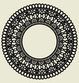 lace circle isolated on white background the vector image vector image