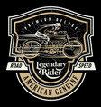 legendary rider vector image vector image