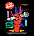 live rock music show or concert or festival vector image vector image