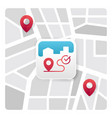 map app icon vector image