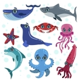 Marine Animals Set vector image vector image