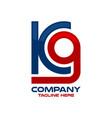 modern letter k9 and training for dogs logo vector image