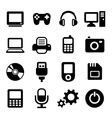 Multimedia gadget icons set vector image vector image