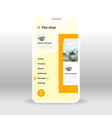 orange yellow chat ui ux gui screen for mobile vector image vector image