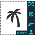 palm icon flat vector image vector image