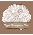 Paper background with thaksgiving turkey vector image vector image