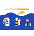 pay online and get bonuses - flat design style vector image vector image
