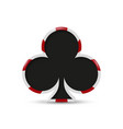 playing card spade suit flat icon vector image vector image