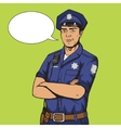Policeman pop art style vector image vector image