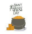 poster saint patricks day with treasure in vector image