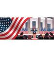 president democrat winner united states vector image vector image