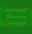print circuit board in the form of alphabet letter vector image vector image