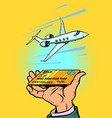 private jet passenger plane speed and business vector image vector image