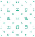 read icons pattern seamless white background vector image vector image
