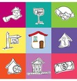 Rent Icons vector image