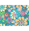 Seamless beautiful floral background vector image vector image