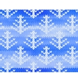 seamless knitted pattern with trees vector image vector image