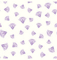 seamless pattern of geometric purple pink diamonds vector image vector image