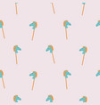 seamless pattern with rocking horse sticks cute vector image